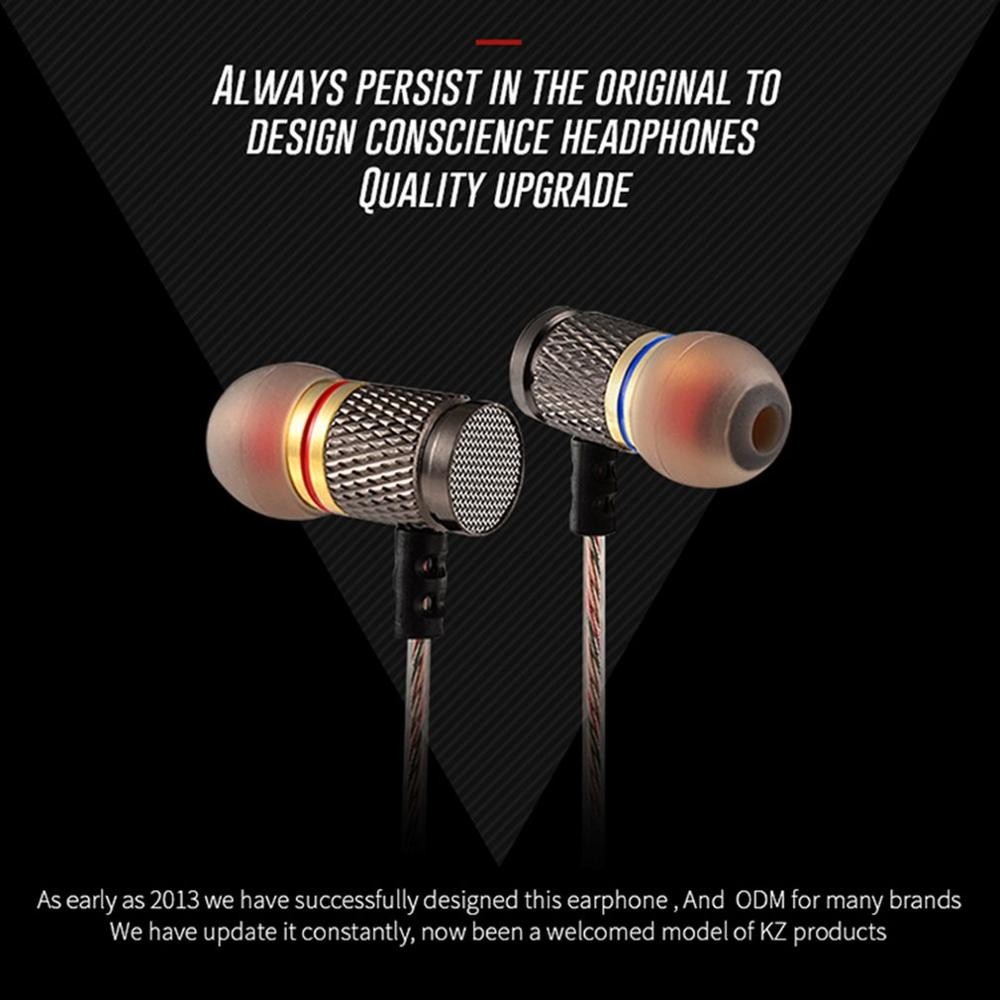 KZ ED2 EDR1 Sprot in ear earphone wired metal music headsets bass noise reduction earbuds for Iphone Xiaomi Huawei Mobile Phones