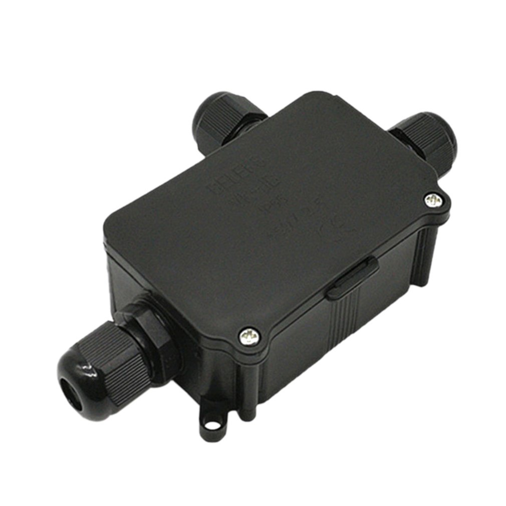 1 In 2 Out Durable Use Waterproof Junction Box Terminal 3 Port Underground Cable Protection Building Connectors IP68