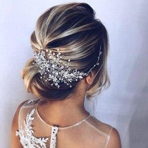 Image 4 - Strass Kralen Hoofdband Bruids Tiara Haaraccessoires Haarband Bruiloft Haar Sieraden Hoofddeksel Vrouwen Accessoires Tiara