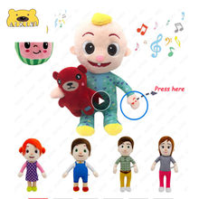 JJ Cocomelon Jj-muñeco de felpa para niños, muñeco musical de felpa, regalo familiar para niños, Anime Plushie