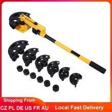 Manual Pipe Bender 10-25mm Diameter 0.8-2.0mm Thickness Tube Bending Machine Lever Type Heavy Duty Tubing Bending Tools