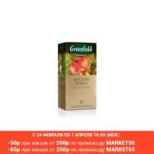 Чай зелёный Greenfield Mellow Peach в пакетиках 25*1,8г