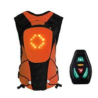 Cycling Backpack LED Warning Light Safety Rear Signal USB Wireless Bicycle Bags|Bicycle Bags & Panniers| |  -