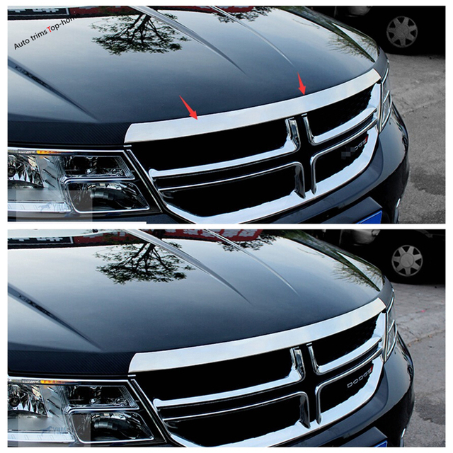 Yimaautotrims Exterior Stainless Steel For Dodge Journey JCUV Fiat Freemont 2012 - 2019 Front Hood Grille Gill Engine Cover Trim 4
