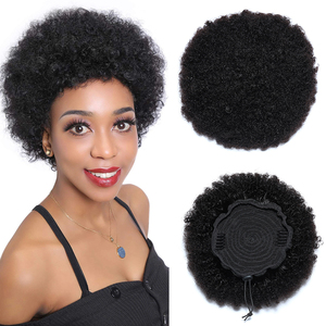 Unice Hair Drawstring Ponytail Human Hair Afro Kinky Curly Mongolian Clip In Hair Extensions 1 Piece Remy Drawstring Ponytail