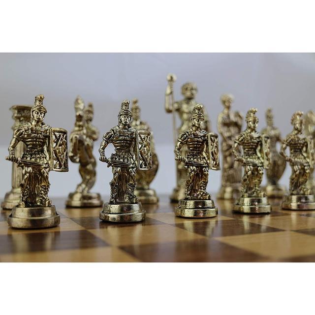 Figurines historiques romaines faites à la main, pièces d'échecs en métal 11cm, planche (sans plateau) 1
