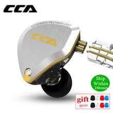 Neue CCA C12 5BA + 1DD Hybrid Metall Headset HIFI Bass Earbuds In Ear Monitor Kopfhörer Noise Cancelling Kopfhörer C10 c16 ZSX A10