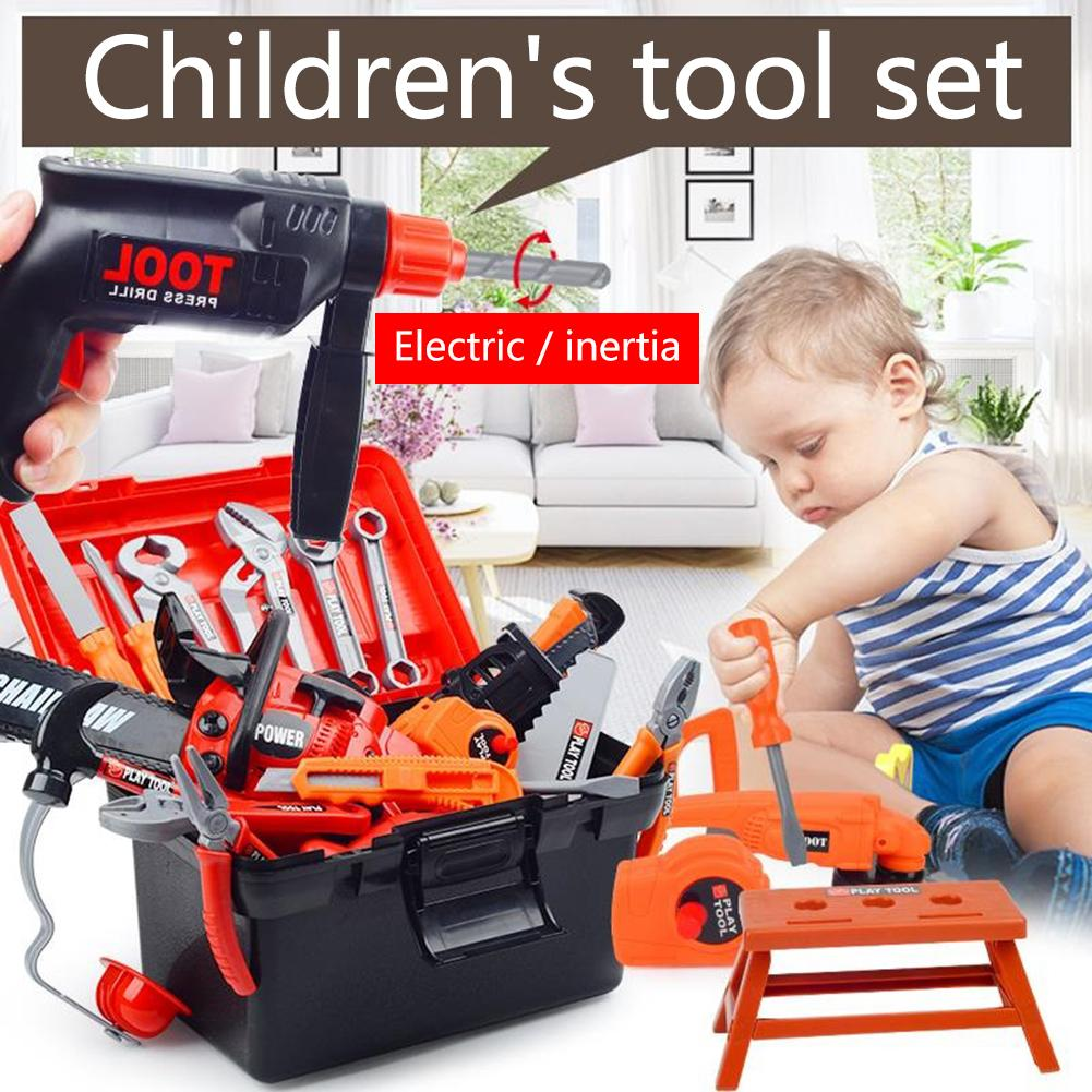 43 Pc/set Children's Repair Tools Toy Power Workbench Construction Tool Bench Set For Boys And Girls Children Pretending Toys