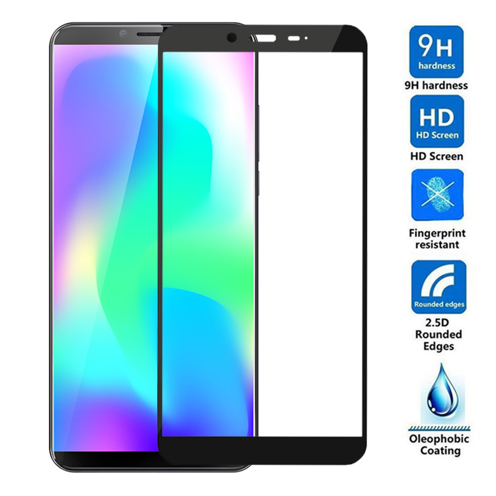 9H 3D Full Cover Tempered Glass for Cubot X19 Black Screen Protector for Cubot X 19 5.93 SmartPhone Protective Film Screen Glass(China)
