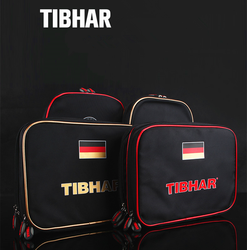 TIBHAR Table Tennis Rackets Bag Germany National Team Double Layer Square Bat Paddle Ping Pong Case Set