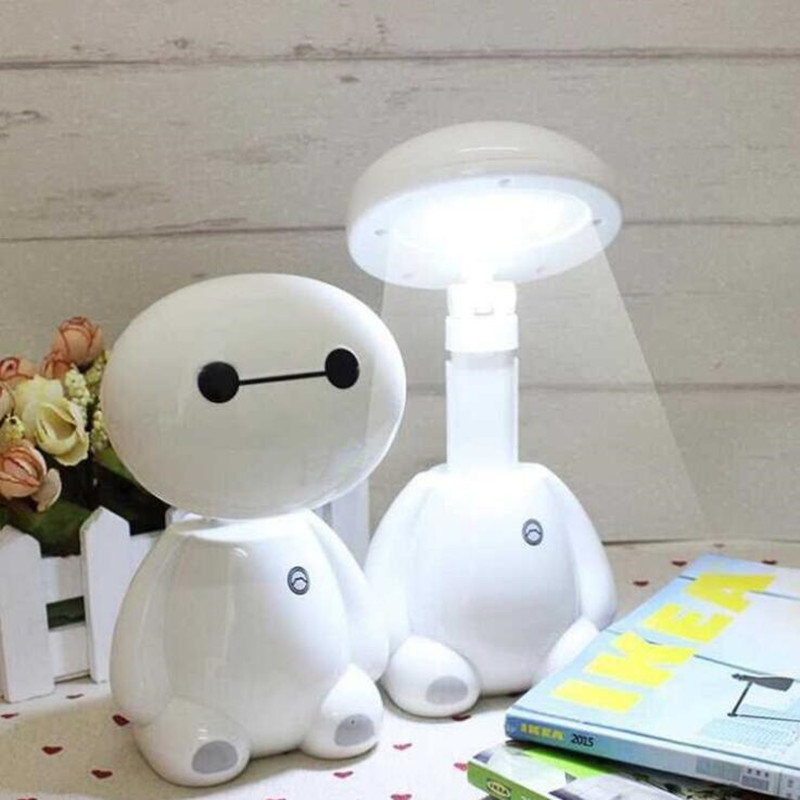 Rechargeable Cartoon Folding LED Table Lamp Learning Desk Children's Desk Lamp Button Switch