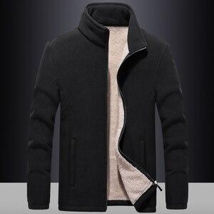 Image 3 - Ветровка мужская с флисовой подкладкой, уличная одежда, спортивная одежда, худи с шерстяной подкладкой, теплые толстовки, пальто, свитшоты, 7XL/8XL/9XL