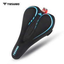 TOSUOD Bicycle cushion cover thick silicone comfort light road bike seat soft  riding mountain