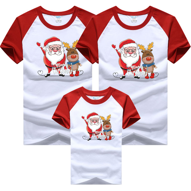 Christmas Family Outfits Dad Mom and Me Father Mother Daughter Son Christmas New Year T-shirts Outfits Family Matching Clothes