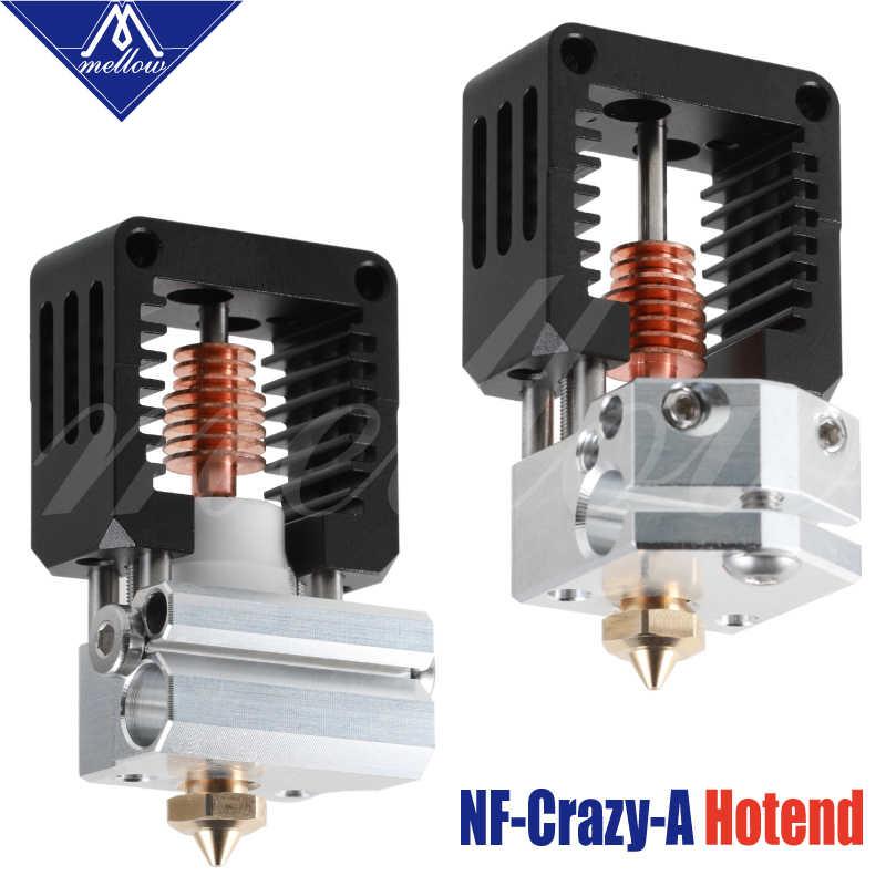 Yumuşak tüm Metal NF-çılgın bir Hotend sivrisinek bir V6 memesi Ender 3 CR10 Prusa I3 MK3S Alfawise Bmg ekstruder 3D yazıcı parçaları
