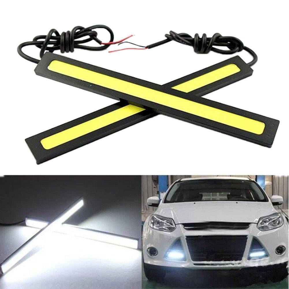 1 Pair 17cm COB LED Car Vehicle Waterproof Daytime Running Driving Light Strip