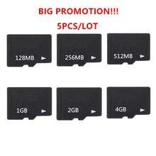 Está quente!! 5 pçs/lote 8 gb 4 gb 2 gb 1 512 mb 256 mb 128 mb 64 mb tf cartão micro sd cartão de memória tf cartão de memória microsd