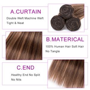 Image 5 - BEAUDIVA Hair Brazilian Straight Hair Bundles P4 27 Color Brazilian Hair Weave Bundles 3/4PCS Remy Human Hair Bundles 95G/PCS