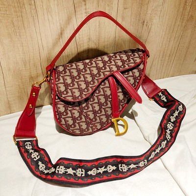 Woolen Cloth Vintage Women Bag Saddle Bag WIth Wide Shoulder Strap