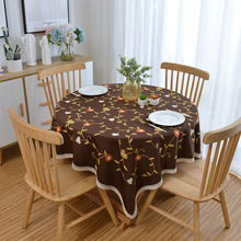 Pastoral style Cotton linen embroidered lace waterproof tablecloth rectangular kitchen coffee table cover