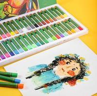 12/24/36/48 color children's oil pastel set / child safety watercolor crayon / student school supplies / stationery/art supplies|Oil Pastel|   -