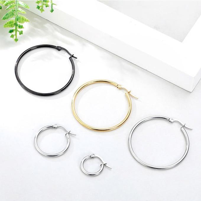 10pcs 15 20 25 40mm 316L Stainless Steel Open Earring Hooks Base Ear Ring Drops DIY Dangle Earring Jewelry Making Supplies