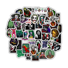 50PCS The Joker Anime Stickers Cartoon Clown Style for Case Laptop Motorcycle Skateboard Luggage Decal Children Toy Sticker