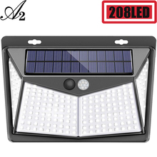 A2 Light Motion Solar lamp 208LED Solar energy lamp Sensor 4side high light Solar light garden