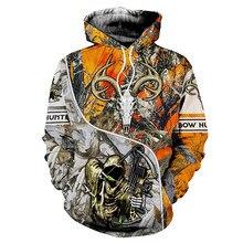 Hunting Deer Pattern Hoodies Brand New Fashion Tracksuit Casual 3D Printing Hoodies Animal Men Casual Sweatshirts 7XL