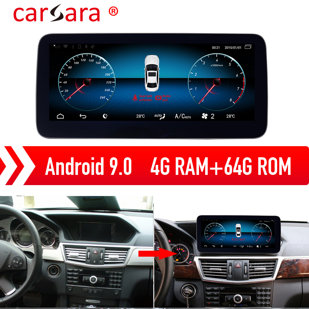 <font><b>Mercedes</b></font> E Class W212 S212 <font><b>E250</b></font> Android 9.0 Navigation Tablet Touch Screen Entertainment System image