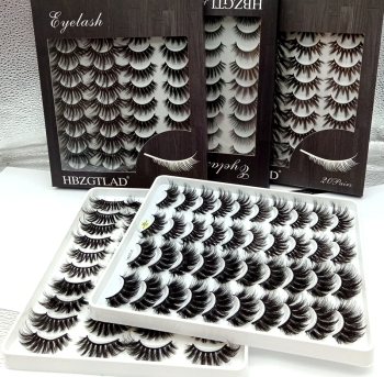 HBZGTLAD 5-20 Pairs 3D Soft Mink False Eyelashes Handmade Wispy Fluffy Long Fake Lashes Natural Eye Extension Makeup Kit Cilios 1