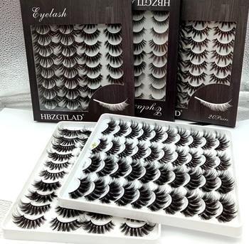 HBZGTLAD 5-20 Pairs 3D Soft Mink False Eyelashes Handmade Wispy Fluffy Long Fake Lashes Natural Eye Extension Makeup Kit Cilios 1