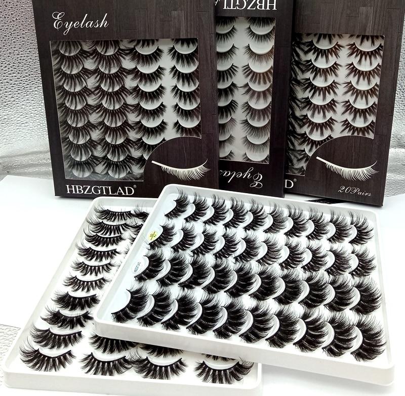 HBZGTLAD 5/18/20 Pairs 3D Soft Mink False Eyelashes Handmade Wispy Fluffy Long Lashes Natural Eye Extension Makeup Kit Cilios(China)