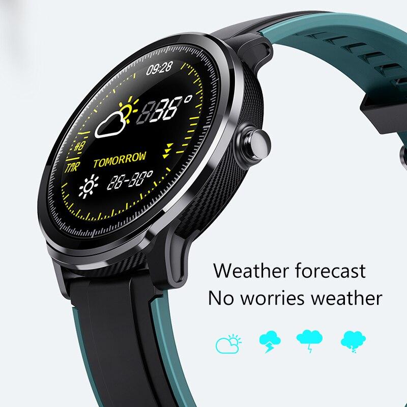 LIGE nouvelle montre intelligente plein écran tactile IP68 étanche fréquence cardiaque moniteur de pression artérielle Sport smartwatch information rappel