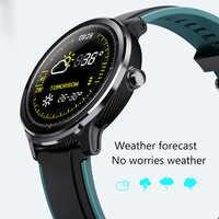 LIGE nuevo reloj inteligente pantalla táctil completa IP68 a prueba de agua ritmo cardíaco Monitor de presión arterial deporte reloj inteligente recordatorio de información