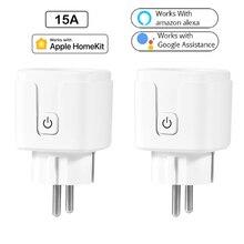 Беспроводная умная розетка WiFi управление умной розеткой работает с Dohome Apple HomeKit Google Assistant Amazon Alexa Голосовое управление