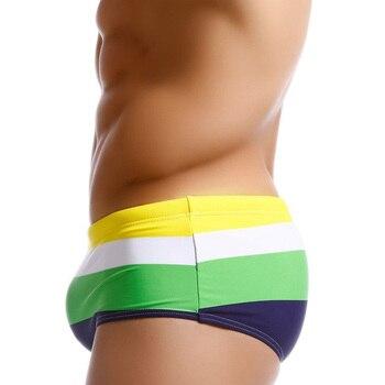 2019 Push Up Pad Mens Swim Briefs Sexy Gay Men Swimwear Biquíni Maiô Sunga Masculina Praia Maiô Surf Wear Sunga 1