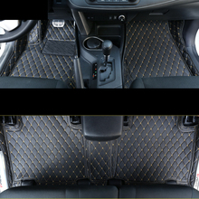 цена на lsrtw2017 leather car floor mats for toyota rav4 2013 2014 2015 2016 2017 2018 xa40 accessories carpet foot auto interior mat