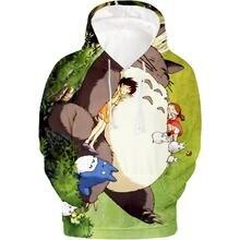 Totoro 3d толстовки свитшот с анимацией осень зима мужские пуловеры