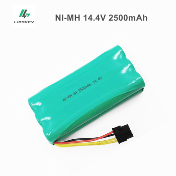 14.4V Ni-MH AA Rechargeable battery Pack 2500MAH for Ecovacs Deebot Deepoo X600 ZN605 ZN606 ZN609 Midea Redmond Vacuum Cleaner - discount item  33% OFF Accessories & Parts