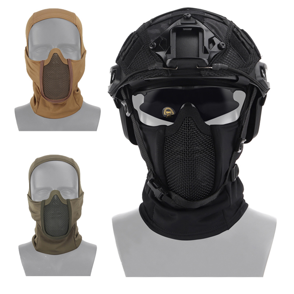 Tactical Airsoft Full Face Mask Outdoor Air Gun Field Hunting Equipment Balaclava Breathable Mesh Paintball Gun Protective Mask