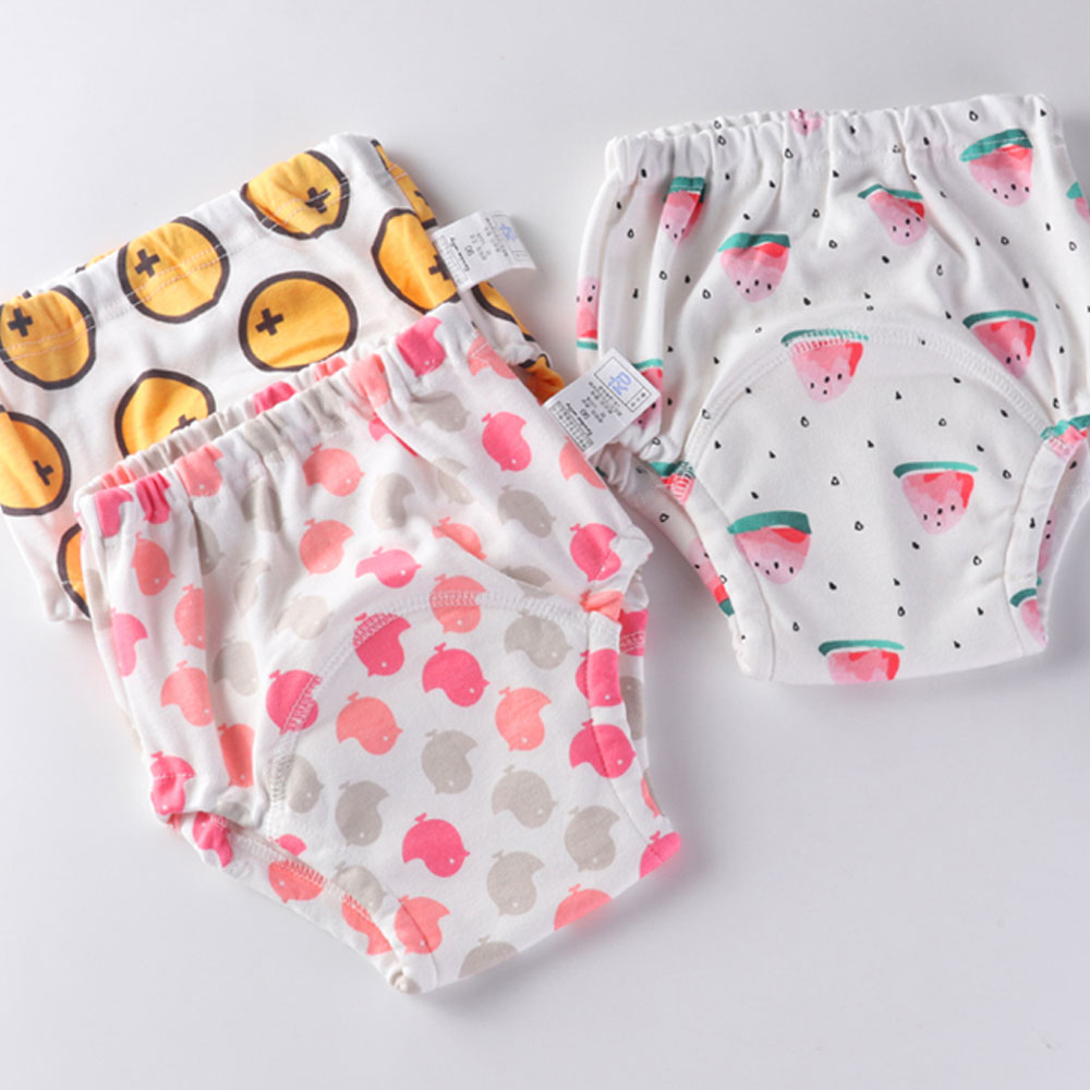 Baby Kids Infant Waterproof Potty Training Pants Reusable Washable Nappy Underwear For Newborn Diapering And Toilet Training