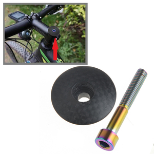 Carbon Fiber Bicycle Headset Fork Top Cap MTB Bike Stem Top Cap Headset Cover 28.6mm 1 1/8