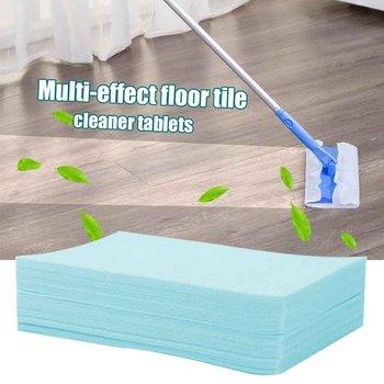 100 sztuk płytki podłogowe Cleaner pielęgnacja Tablet czyszczenie urządzenia do oczyszczania ziemi usuń kurz czyszczenie plamy Cleaner domowe sprzęty czyszczące urządzenia do oczyszczania s tanie i dobre opinie CN (pochodzenie) Product size 7 * 11cm bagged 7 * 11cm