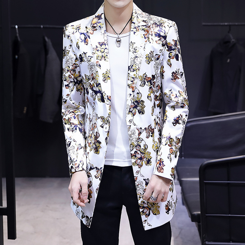 The New Man Fall 2020 Fashion Printing Thin Long Suit In The Youth Spend A Suit Of Cultivate One's Morality