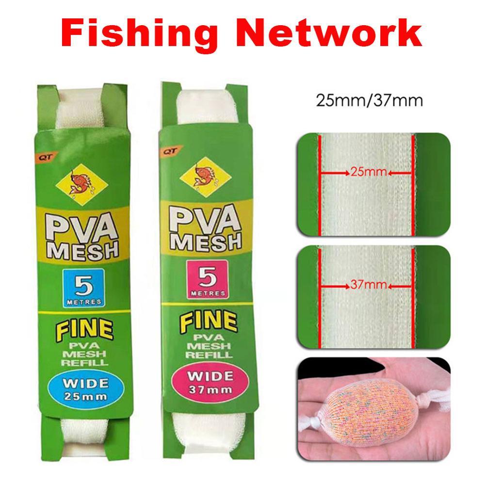 5M PVA 25mm Mesh Refill Carp Fishing Stocking Boilie Rig Bait Wrap Bags SZ