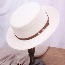 Шляпа Женская шерстяная в британском стиле Классическая фетровая