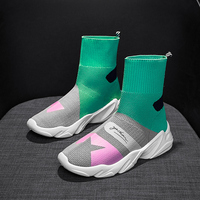 Designer Summer Sneakers Women Vulcanized Shoes Sock High Top Trainers Breathable Tenis Feminino Casual Shoes Chaussures Femme