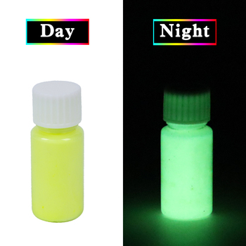Luminous Paint Glow in the Dark Fluorescent Paint for Party Nail Decorations Art Craft 20g Yellow Phosphor Powder Acrylic Paint 10g luminous paint fluorescent paint noctilucent powder in diy decorations acrylic powder phosphor pigment glow in the dark