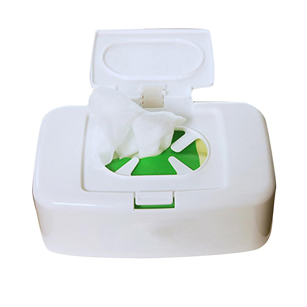 Wet Wipes Dispenser Holder Tissue Storage Box Case with Lid for Home Office Use